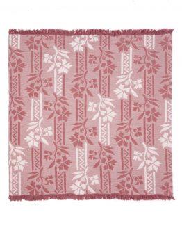 Pătură din bumbac, cu model în dungi, în relief, 450 gr/m2